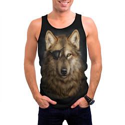 Мужская 3D-майка без рукавов с принтом Морской волк, цвет: 3D-черный, артикул: 10135210704123 — фото 2