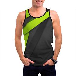 Майка-безрукавка мужская Спортивная геометрия 6 цвета 3D-черный — фото 2
