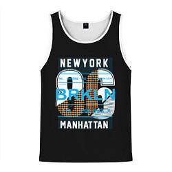 Майка-безрукавка мужская New York: Manhattan 86 цвета 3D-белый — фото 1