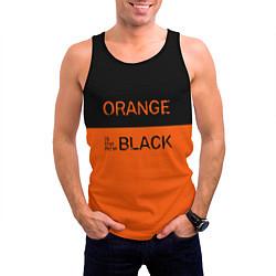 Майка-безрукавка мужская Orange Is the New Black цвета 3D-черный — фото 2