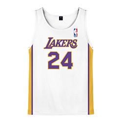 Майка-безрукавка мужская Kobe Bryant 24 Автограф цвета 3D-белый — фото 1