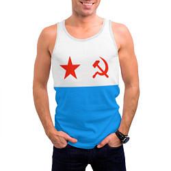 Майка-безрукавка мужская ВМФ СССР цвета 3D-белый — фото 2