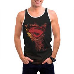 Майка-безрукавка мужская Superman цвета 3D-белый — фото 2