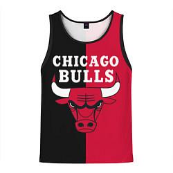 Майка-безрукавка мужская Чикаго Буллз цвета 3D-черный — фото 1