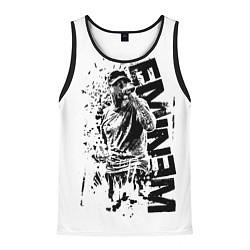 Майка-безрукавка мужская Eminem Rap цвета 3D-черный — фото 1