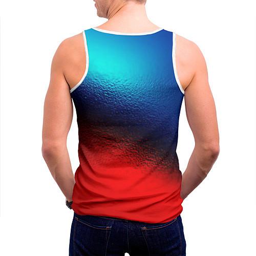 Мужская майка без рукавов Синий и красный / 3D-Белый – фото 4