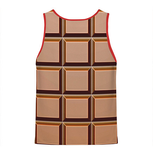 Мужская майка без рукавов Шоколад / 3D-Красный – фото 2