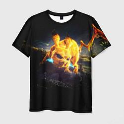 Мужская 3D-футболка с принтом Пикачу, цвет: 3D, артикул: 10101108803301 — фото 1