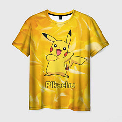 Мужская 3D-футболка с принтом Pikachu, цвет: 3D, артикул: 10104183803301 — фото 1