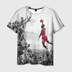 Футболка мужская Michael Jordan NBA цвета 3D-принт — фото 1