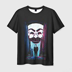 Футболка мужская Mr Robot: Anonymous цвета 3D — фото 1