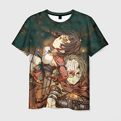 Мужская 3D-футболка с принтом Воин крепости, цвет: 3D, артикул: 10111184903301 — фото 1