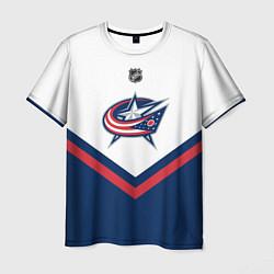 Футболка мужская NHL: Columbus Blue Jackets цвета 3D — фото 1