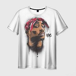 Мужская 3D-футболка с принтом 2Pac, цвет: 3D, артикул: 10125037103301 — фото 1