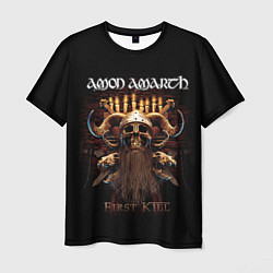Футболка мужская Amon Amarth: First kill цвета 3D-принт — фото 1