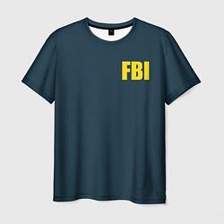 Футболка мужская FBI цвета 3D — фото 1