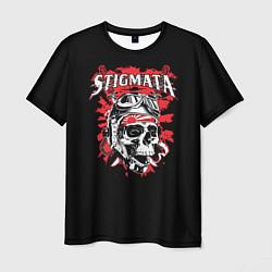 Футболка мужская Stigmata Skull цвета 3D-принт — фото 1