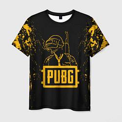 Мужская футболка PUBG: Black Soldier