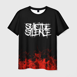 Футболка мужская Suicide Silence: Red Flame цвета 3D — фото 1