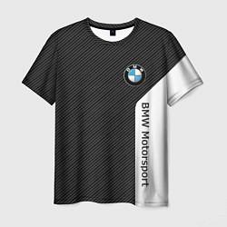 Мужская футболка BMW Motorsport: Black Carbon