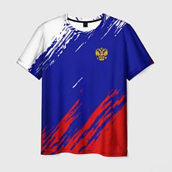 Футболка мужская RUSSIA SPORT цвета 3D-принт — фото 1