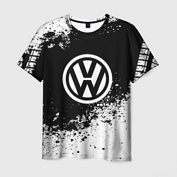Футболка мужская Volkswagen: Black Spray цвета 3D — фото 1