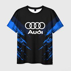 Футболка мужская Audi: Blue Anger цвета 3D — фото 1