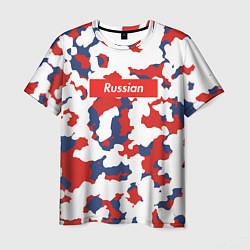Футболка мужская Supreme Russian цвета 3D — фото 1