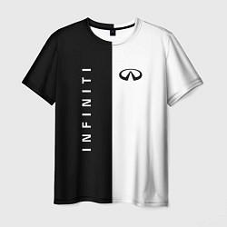 Мужская футболка Infiniti: Black & White