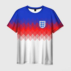 Футболка мужская Сборная Англии: Тренировочная ЧМ-2018 цвета 3D — фото 1