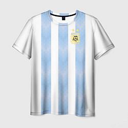 Футболка мужская Сборная Аргентины цвета 3D-принт — фото 1