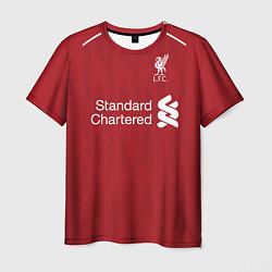 Футболка мужская FC Liverpool: Salah Home 18/19 цвета 3D-принт — фото 1