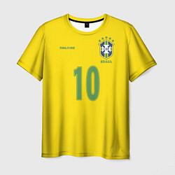 Футболка мужская Сборная Бразилии: Роналдиньо 10 цвета 3D-принт — фото 1
