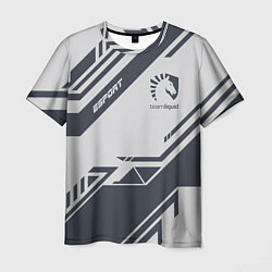 Футболка мужская Team Liquid: Grey E-Sport цвета 3D-принт — фото 1