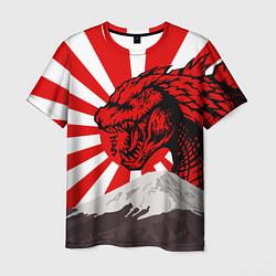 Футболка мужская Japanese Godzilla цвета 3D — фото 1