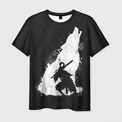 Футболка мужская Dark Souls: Howling Wolf цвета 3D-принт — фото 1