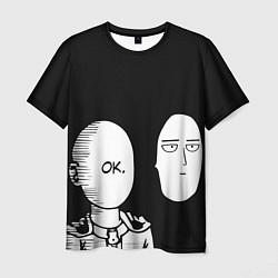 Мужская 3D-футболка с принтом Saitama: One-Punch Man, цвет: 3D, артикул: 10170868703301 — фото 1