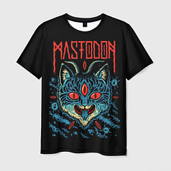Футболка мужская Mastodon: Demonic Cat цвета 3D — фото 1