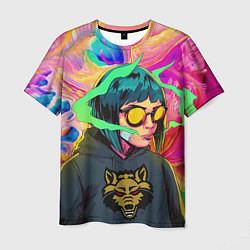 Мужская 3D-футболка с принтом Девушка На Стиле, цвет: 3D, артикул: 10201355703301 — фото 1
