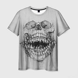 Футболка мужская Dentist skull цвета 3D — фото 1