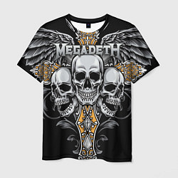 Футболка мужская Megadeth цвета 3D-принт — фото 1