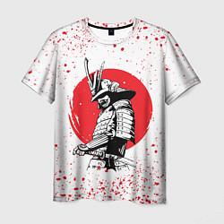 Футболка мужская Самурай в каплях крови Z цвета 3D-принт — фото 1