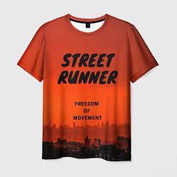 Мужская 3D-футболка с принтом Street runner, цвет: 3D, артикул: 10255404103301 — фото 1