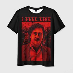 Футболка мужская I feel Like Escobar цвета 3D — фото 1