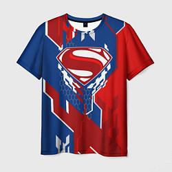Футболка мужская Знак Супермен цвета 3D — фото 1