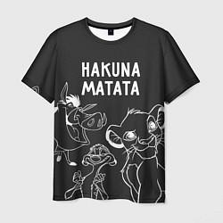 Мужская 3D-футболка с принтом Хакуна Матата, цвет: 3D, артикул: 10266205503301 — фото 1