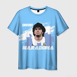 Футболка мужская Диего Марадона цвета 3D-принт — фото 1