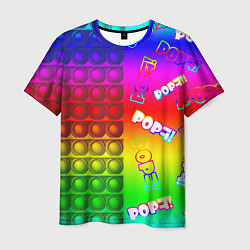 Футболка мужская POP it! цвета 3D-принт — фото 1
