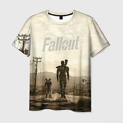 Футболка мужская Fallout City цвета 3D-принт — фото 1