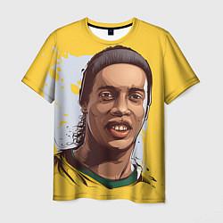 Футболка мужская Ronaldinho Art цвета 3D-принт — фото 1